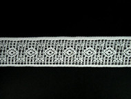 "White Insertion Lace Trim - 1.5"" (WT0112E03)"