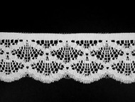 "White Edge Lace Trim - 2.25"" (WT0214E04)"
