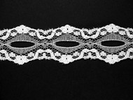 "White Galloon Lace Trim - Beading - 1.125"" (WT0118G01)"