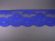 """Bright Blue Edge Lace Trim - 2.5"""" (BB0212E01)"""