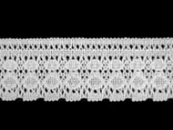 "White Edge Lace Trim - Polyester w/ cotton feel - 2"" (WT0200E06)"