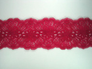"Wine Red Galloon Lace Trim - 3.25"" (WR0314G01)"