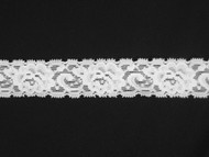 "White Galloon Stretch Lace Trim - 1.125"" (WT0118G02)"