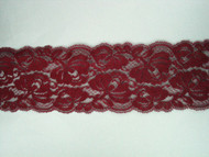 "Burgundy Galloon Lace Trim - 3.375"" (BY0338G01)"