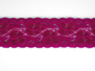 "Merlot Galloon Stretch Lace Trim - 1.25"" (MR0114G01)"