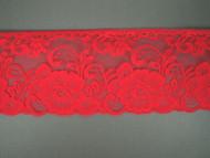 """Bright Fuchsia Edge Lace Trim - 3.75"""" (FS0334E01)"""