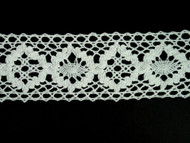 "Off White Edge Lace Trim - Cotton - 2"" (WT0200E01)"