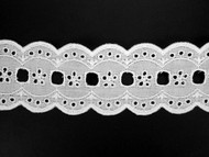 "White Galloon Eyelet - Beading - 2.125"" (WT0218G01)"