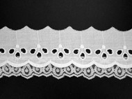 "White Eyelet Trim w/ Lace Attached - 2.625"" (WT0258U01)"