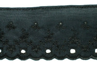"Black Tricot Eyelet w/ Finished Edge - 2.375"" (BK0238E02)"