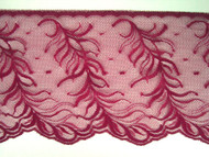 "Merlot Edge Lace Trim w/ Fine Netting - 5"" (MR0500E01)"