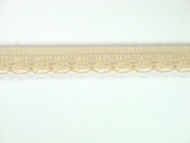 "Beige Edge Lace Trim - 0.375"" (249 yards) (BG0038E03W)"