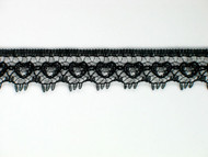 "Black Edge Lace Trim - 0.5"" (630 yards) (BK0012E01W)"