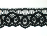 "Black Edge Lace Trim - 1.25"" (665 yards) (BK0114E04W)"