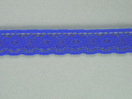 "Bright Blue Edge Lace Trim - 0.5"" (288 yards) (BB0012E01W)"