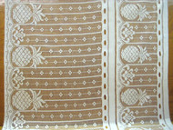 "Off White Quaker Lace (Pineapple Curtains & Valance) - 34"" (QL01)"