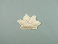 "Beige Embroidered Satin Iron-On Applique - 3.25"" wide x 2.125"" (APM072)"