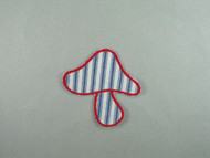 "Blue & Red Mushroom Applique - 3.5"" x 3.5"" (APM077)"