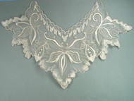 "Ivory Embroidered Organza Yoke - 13.75"" wide x 9"" (APY021)"
