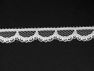"White Edge Lace Trim - 0.5"" (WT0012E01)"
