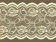"Ivory Galloon Lace Trim - 7"" (IV0700G01)"