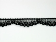 "Black Edge Lace Trim - 0.375"" (BK0038E07)"