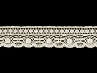 "Off White Edge Lace Trim - Cotton - 1.5"" (WT0112E07)"