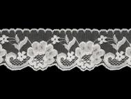 """White Edge Lace Trim w/ sheen - 2.5"""" (WT0212E03)"""