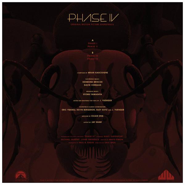 BRAIN GASCOIGNE AND DAVID BRISCOE Phase IV Original Motion Picture Soundtrack (Yellow Vinyl) LP
