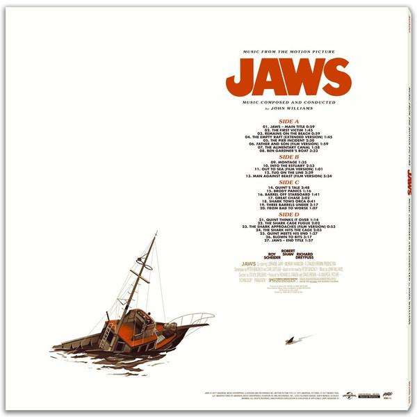 JOHN WILLIAMS: Jaws (Music From The Motion Picture) 2LP