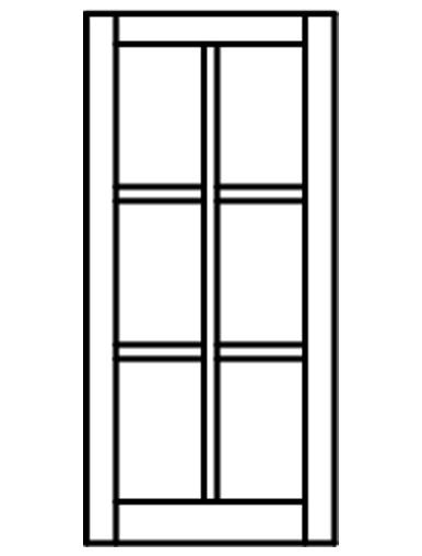 Custom Sized Barn Sash White Pvc Or Wood 2w X 3h Lite