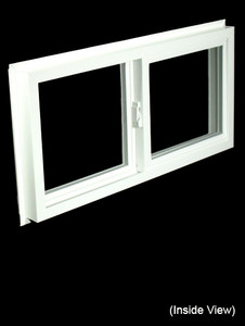 Custom Sized White PVC Insulated Gliding Window - High Performance or Clear Glass