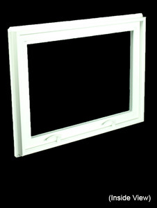 32 x 23-1/4 White PVC Hopper / Awning Window (NVC3224W)