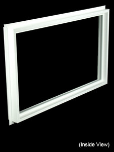 32 x 19-1/4 White Direct Set Windows (NVCF3220W)