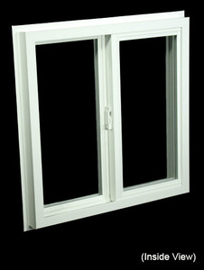23-1/2 x 23-1/2 White PVC Insulated Gliding Window (NVSS2424W)