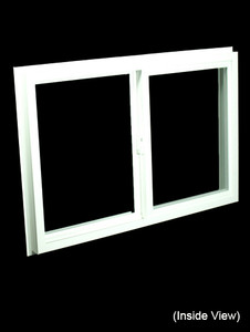 35-1/2 x 23-1/2 White PVC Insulated Gliding Window (NVSS3624W)