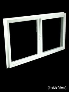 43 x 23-1/4 White PVC Insulated Gliding Window (NVSS4324W)