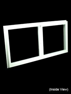 47-1/2 x 23-1/2 White PVC Insulated Gliding Window (NVSS4824W)