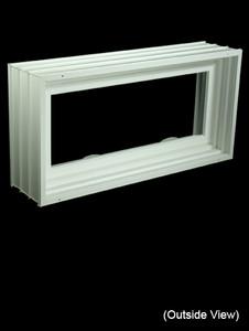 "31-7/8 x 15-7/8 Full 8"" Jamb PVC Hopper / Awning Windows (NVPC3216W7)"