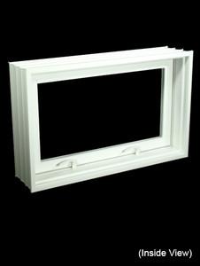 "31-7/8 x 19-7/8 Full 8"" Jamb PVC Hopper / Awning Windows (NVPC3220W7)"