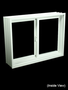 "31-7/8 x 23-7/8 Full 8"" Jamb PVC Gliding Windows (NVPP3224W7)"