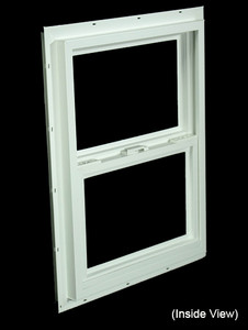 17-1/2 x 23-1/2 White PVC Utility Single Hung Windows (NVSH1824WD)