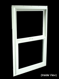 23-1/2 x 35-1/2 White PVC Utility Single Hung Windows (NVSH2436WD)