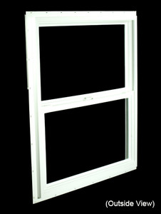 29-1/2 x 35-1/2 White PVC Utility Single Hung Windows (NVSH3036WD)