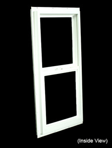 17-1/2 x 35-1/2 White PVC Insulated Single Hung Windows (NVSH1836WI)
