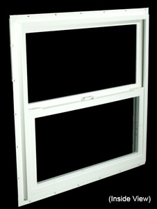 29-1/2 x 29-1/2 White PVC Insulated Single Hung Windows (NVSH3030WI)
