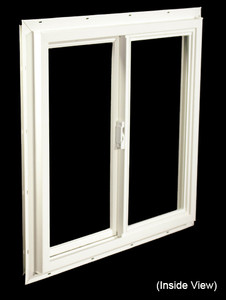 23-1/2 x 23-1/2 White PVC DSB Gliding Windows (NVU2424WD)