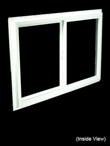 35-1/2 x 23-1/2 White PVC DSB Gliding Windows (NVU3624WD)