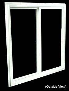 35-1/2 x 35-1/2 White PVC DSB Gliding Windows (NVU3636WD)