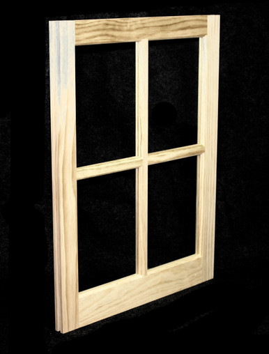 20 x 25 natural pine barn sash window bsw2025 for Custom wood windows online